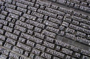 typesetting bricks